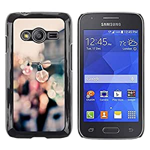 FECELL CITY // Duro Aluminio Pegatina PC Caso decorativo Funda Carcasa de Protección para Samsung Galaxy Ace 4 G313 SM-G313F // Party Bulbs Docks Port Summer Focus Blur