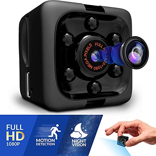 Mini Spy Hidden Nanny Camera, Portable, Full HD Video Recording, 1080P, Night Vision, Motion Detection, Indoor and Outdoor Covert Security for Home and Ofiice