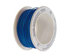 Jonard Tools R-30B-0050 Blue Insulated Kynar Copper Wire Roll, 30 AWG, 50 ft Length