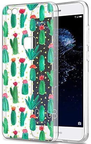 Eouine Funda Huawei P9 Lite, Cárcasa Silicona 3D Transparente con Dibujos Diseño Suave Gel TPU [Antigolpes] de Protector Bumper Case Cover Fundas para Movil Huawei P9 Lite 2017 (Cactus): Amazon.es: Electrónica