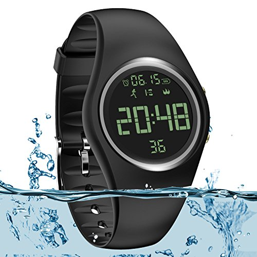 Smart Watch Non-Bluetooth Kid Pedometer Watch Sport Wristband IP68 Swimming Watch Water-resistant Fitness Tracker with Accurate Steps/Distance/Calorie/Clock/Timer for Walking Running Kids Men Women