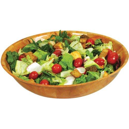 OKSLO Woven wooden salad bowl 14 x 3-1/2