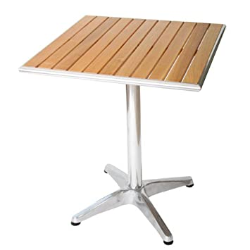 Gartentisch holz aluminium interesting cheap enorm for Bistrotisch holz