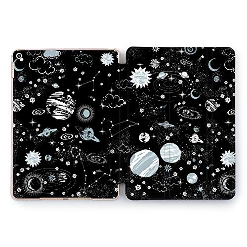 (Wonder Wild Space Black iPad Case 9.7 Pro inch Mini 1 2 3 4 Air 2 10.5 12.9 2018 2017 Design 5th 6th Gen Clear Print Smart Hard Cover Monochrome Planets Constellation Solar System Wormhole Endless)