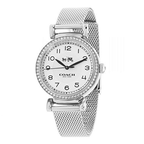Coach Madison 14502651 Silver Stainless Steel Mesh Strap Glitz Bezel Women's Watch (Womens Coach Watches Silver)