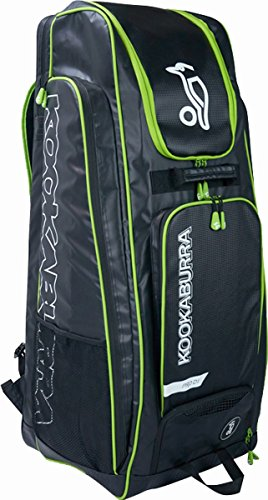 Kookaburra Pro D1 Cricket Sports Duffle Storage Bag Black/lime by Sportsgear US