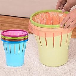 Pink Lizard Trash Can Waste Bin Storage Bucket Durable Office Garbage Rubbish Clamp Anti Ship Fixation