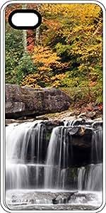 Autumn Colored Mountain Waterfall White Plastic Decorative iPhone 6 Plus Case
