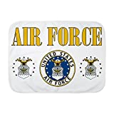 Royal Lion Baby Blanket White United States Air Force Military Seal