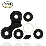 #7: [2PACK]Spinner Fidget Toys Hand Rotor High Speed stainless steel Bearings 2-8 Minutes Rotation No noise No jitter EDC Focus Toy For Killing Time