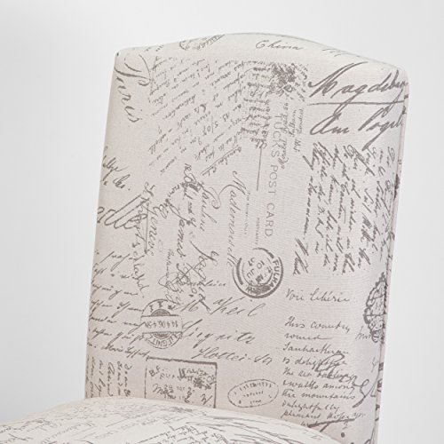 Christopher Knight Home 230274 Crown Back French Script Beige Fabric Dining Chairs (Set of 2), by Christopher Knight Home (Image #2)