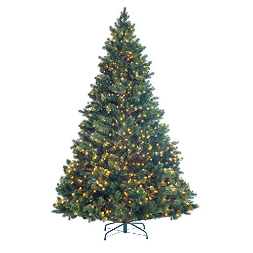 7.5 ft. Deluxe Green Christmas Tree with Lights
