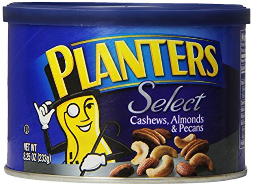 Planters Select Cashews, Almonds and Pecans 8.25 oz. (Count of 3) (Walnut Cashew)