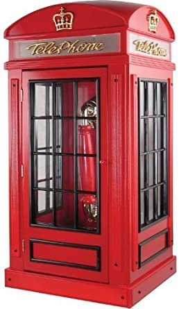 Retro Uk Telephone Box Antique Finished Handcrafted Wooden