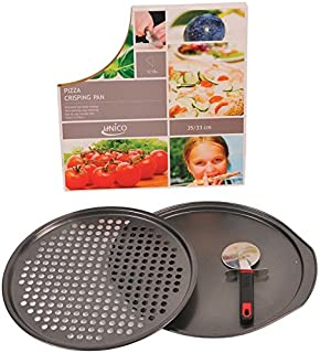 Euro-Home SS-DK-EW558 Gorgeous Pizza Crisping Pan Set with Cutter Multicolor