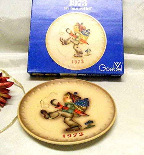 - Judys Home Delights Vintage Globe Trotter Hummel 1973 Collector Plate with Box