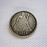 1873-CC USA Seated Liberty Dime Coins Copy (OBVERSE WITHOUT STARS)