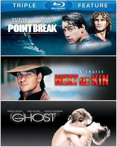 Patrick Swayze Triple Feature (Next of Kin / Ghost / Point Break) [Blu-ray]