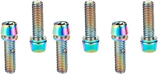 Abilieauty, 6 Pernos de Tornillos de Colores de Titanio M5 x 18 mm ...