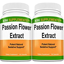 2 Bottles Passion Flower Extract 900mg Per Serving 180 Total Capsules KRK Supplements