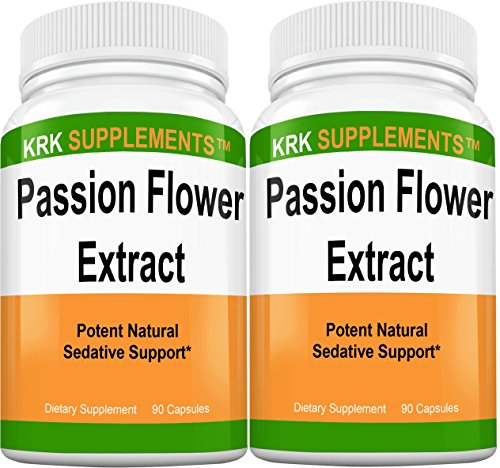2 Bottles Passion Flower Extract 900mg Per Serving 180 Total Capsules KRK Supplements Review