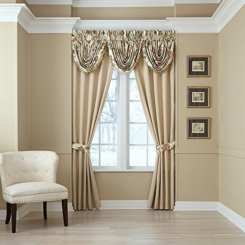 Croscill Daphne 84-Inch Rod Pocket Window Curtain Panel Pair in Ivory