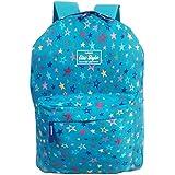 Mochila Escolar Feminina Estrela Alça Acolchoada (Azul)