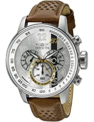 Invicta Mens 19286 S1 Rally Analog Display Swiss Quartz Brown Watch