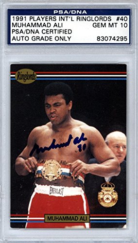 Muhammad Ali Autographed 1991 Players Ringlords Card Mint 10 83074295 - PSA/DNA Certified - Autographed Boxing (Authentic Player Autographed Card)