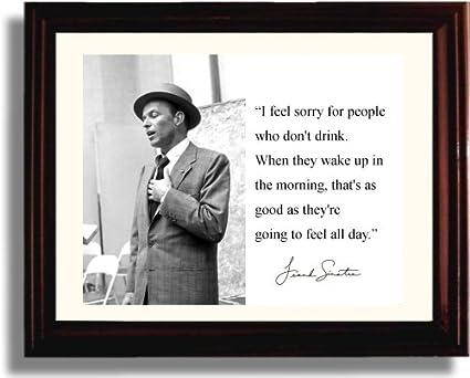 Amazon.com: Framed Frank Sinatra Autograph Replica Print: Posters ...