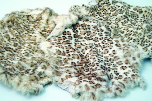 Leopard Print Rabbit Pelt, Large Pelts, used for sale  Delivered anywhere in USA