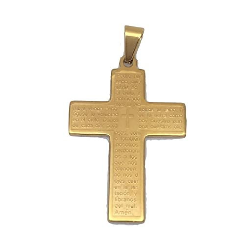 Amazon.com: Formula Moda Cross with Padre Nuestro Prayer in ...