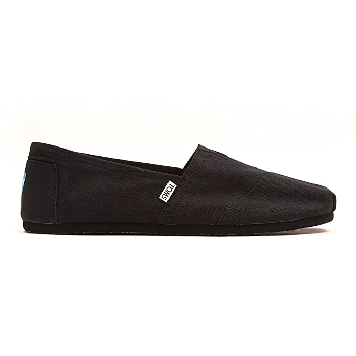 toms shoes classic black canvas slip on for s s