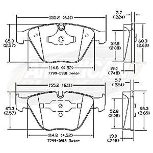 American Black ABD918C Ceramic Front Disc Brake Pads Set