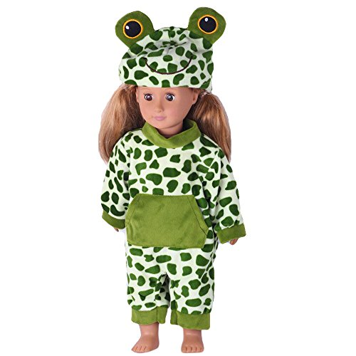AMOFINY Cute Frog Pattern Jumpsuit Playsuit With Hat