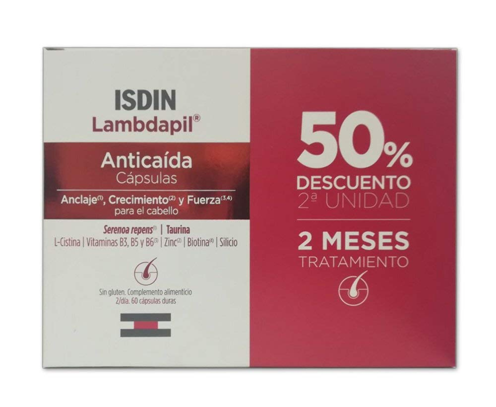 Amazon.com : ISDIN- Lambdapil Hair Loss Lotion Pack 2X20 One Dose ...