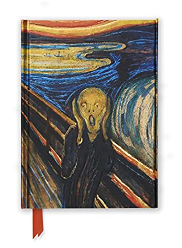 edvard munch the scream foiled journal flame tree notebooks