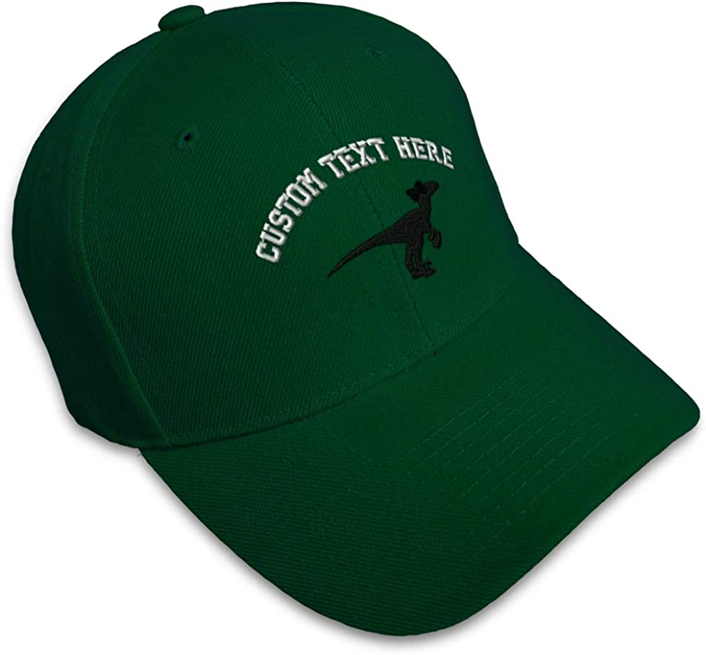 Custom Baseball Cap Dino Girl Velociraptor B Embroidery Dad Hats for Men /& Women