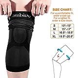 CAMBIVO 2 Pack Knee Brace, Knee Compression Sleeve