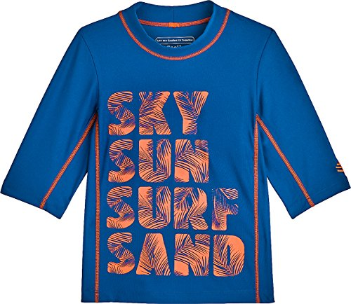 Coolibar UPF 50+ Kids' Surf Shirt - Sun Protective (Medium- Sky-Sun-Surf-Sand)
