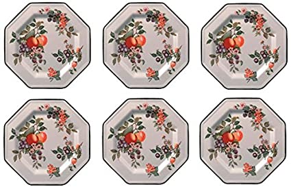 Johnson Bros - Fresh Fruit, Set of 6 Dinner Plates 27cm (SECOND QUALITY)*