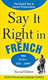 Say It Right in French, EPLS Staff, 0071767711