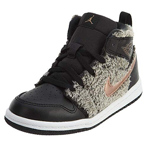 Jordan 1 Retro High GT Toddler's Shoes Black/Metallic Bronze/White 705324-022 (8 M ()