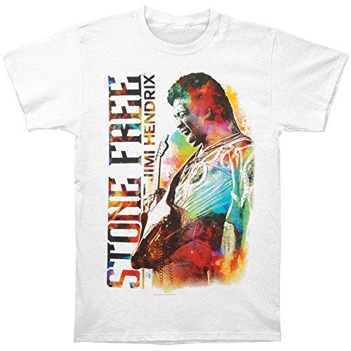 Jimi Hendrix Stone Free T-shirt - Jimi Hendrix Men's JH Stone Free T-shirt XX-Large White