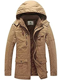 Men's Military Style Thicken Hooded Jacket