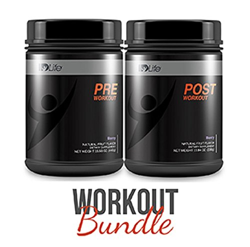 IDLife Preworkout and Postworkout Jar Bundle - Berry Flavor - 30 Servings
