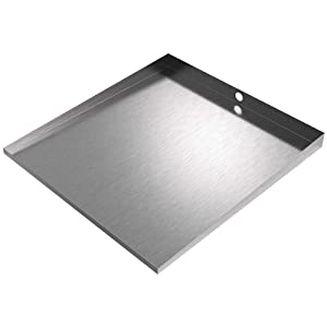 "32"" x 30"" Front-load Washer Tray with Drain (Stainless Steel)"