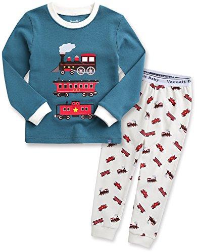 Ultimate Cotton Garment (Vaenait baby Kids Boys 100% Cotton Sleepwear Pajamas 2pcs Set Eco Train L)