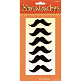 Amscan Cinco De Mayo Fiesta Party Black Handle-Bar Style Moustaches Accessory (6 Piece), Black, 10.5 x 6
