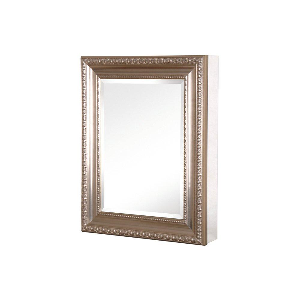 Pegasus SP4595 26-Inch Deco High Framed Medicine Cabinet, Brushed Nickel by Pegasus